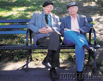 old men on bench